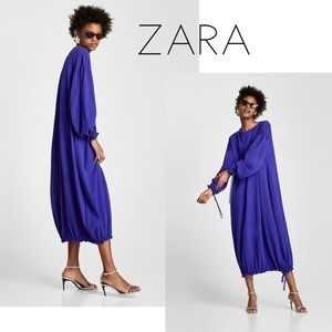 Zara Navy Blue Modern Maxi Dress